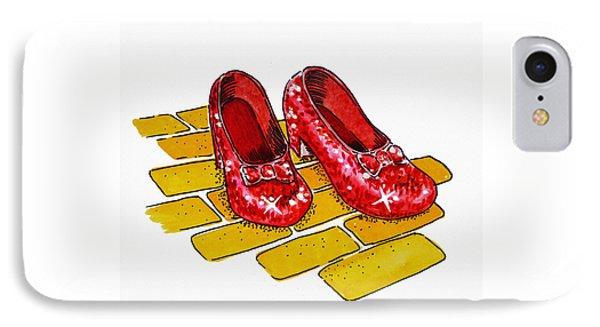 Wizard iPhone 8 Case - Ruby Slippers The Wizard Of Oz  by Irina Sztukowski