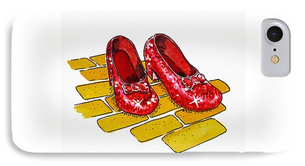 Wizard iPhone 8 Case - Ruby Slippers The Wizard Of Oz  by Irina Sztukowski