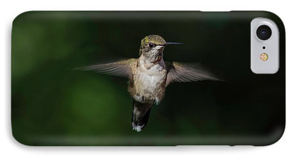 Ruby Throated Hummingbird IPhone Case