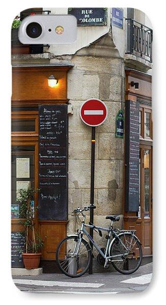 Rue De La Colombe - Paris Photograph IPhone Case
