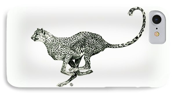 Running Cheetah IPhone Case