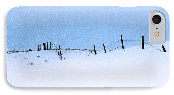 Rural Prairie Winter Landscape IPhone Case
