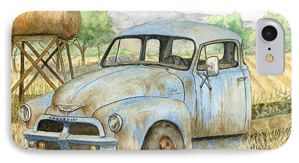 Rusty Blue Chevy IPhone Case