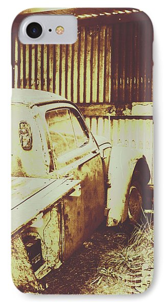 Truck iPhone 8 Case - Rusty Pickup Garage by Jorgo Photography - Wall Art Gallery