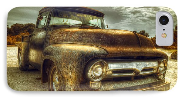 Truck iPhone 8 Case - Rusty Truck by Mal Bray