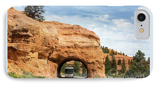 Rv Red Canyon Tunnel Utah IPhone Case