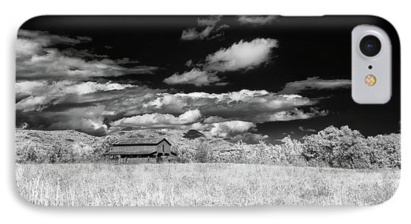 S C Upstate Barn Bw IPhone Case