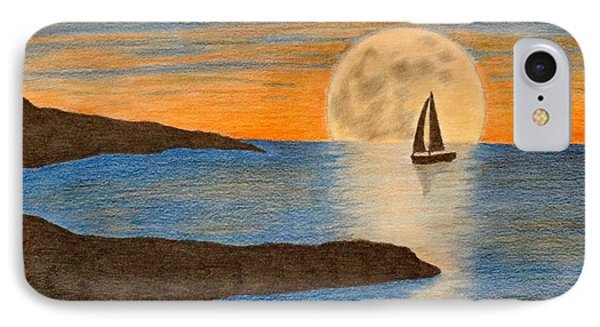 sailboat and Moon IPhone Case