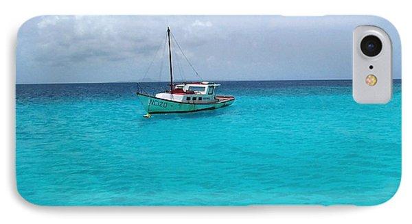 Sailboat Drifting In The Caribbean Azure Sea IPhone Case