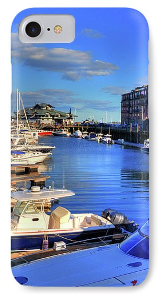 IPhone Case featuring the photograph Sailboats Docked On Boston Harbor by Joann Vitali
