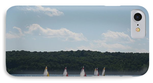 Sailboats In Eagle Harbor IPhone Case