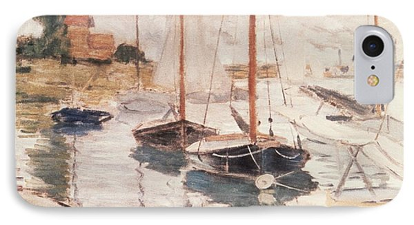 Sailboats On The Seine IPhone Case