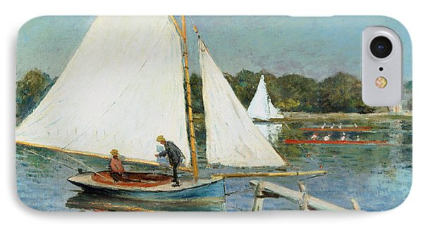 Sailing At Argenteuil IPhone Case