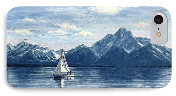 Sailing At The Grand Tetons IPhone Case