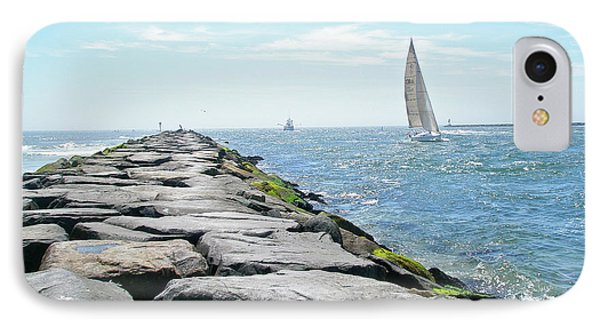 iPhone 8 Case - Sailing Barnegat Inlet by Mother Nature