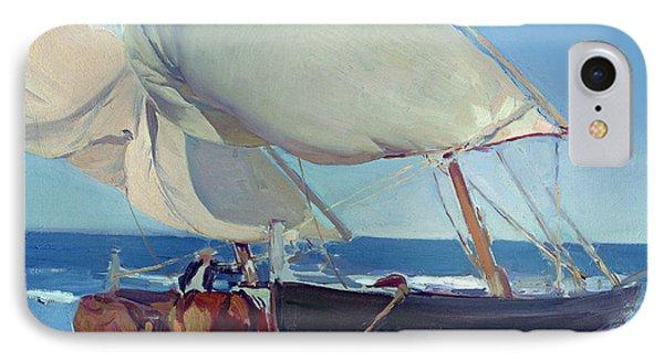 Boat iPhone 8 Case - Sailing Boats by Joaquin Sorolla y Bastida