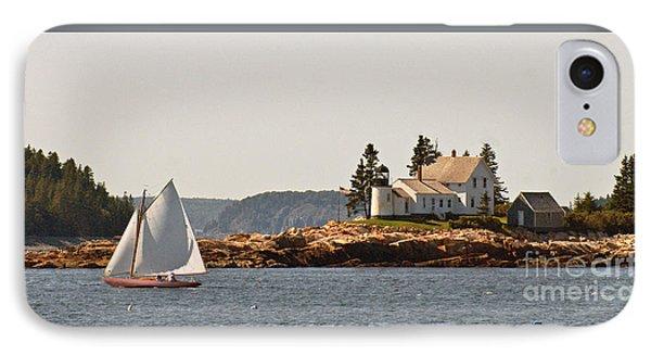 sailing by Mark Island lighthouse IPhone Case