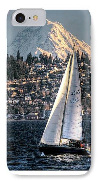 Sailing On Elliot Bay, Seattle, Wa IPhone Case