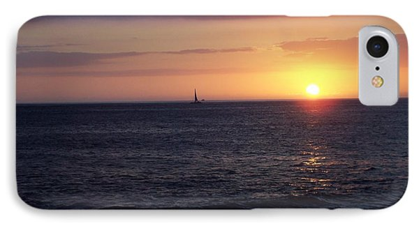 Sailing The Sunset IPhone Case