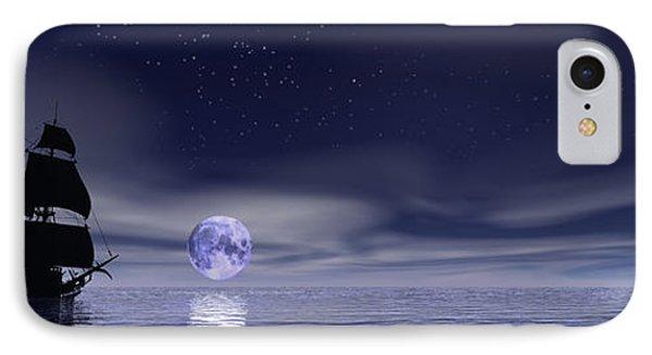Sails Beneath The Moon IPhone Case