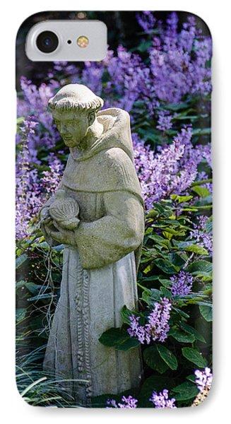 Saint Francis In Lavender IPhone Case