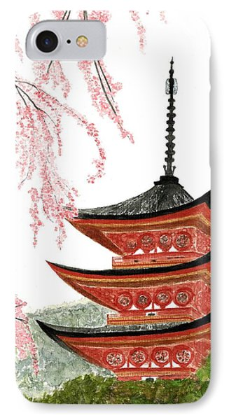 Sakura At Gojunoto Pagoda IPhone Case