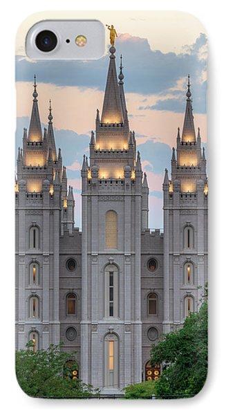 Salt Lake City Temple Morning IPhone Case