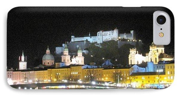 Salzburg At Night IPhone Case