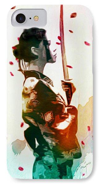Samurai Girl - Watercolor Painting IPhone Case