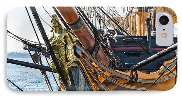 San Diego Embarcadero - Hms Surprise Figurehead IPhone Case