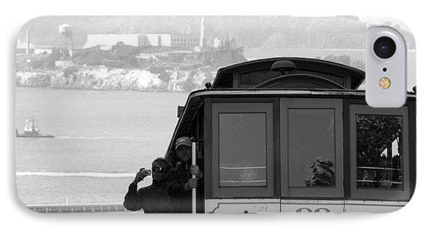 San Francisco Cable Car With Alcatraz IPhone Case