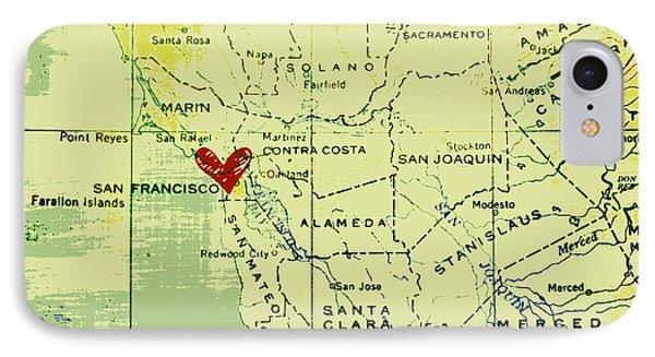 San Francisco Heart Map IPhone Case