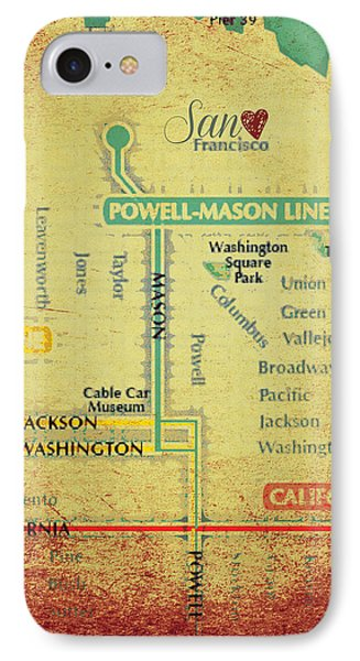 San Francisco Trolley Map IPhone Case