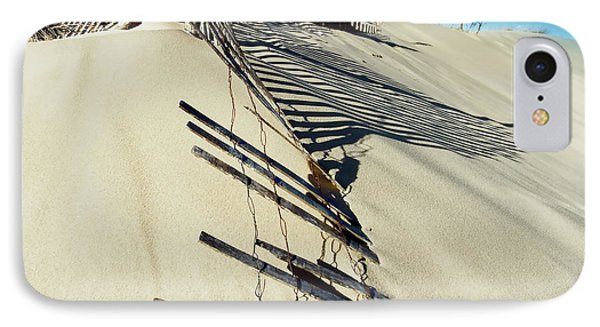 Sand Dune Fences And Shadows IPhone Case