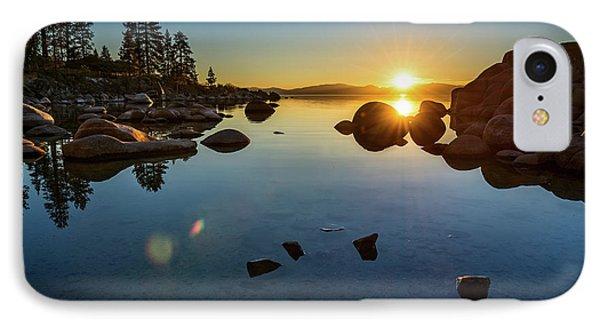 Sand Harbor Sunset IPhone Case