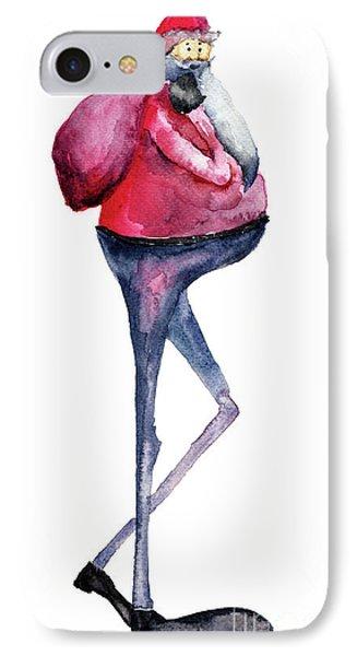 Santa Claus, Watercolor Illustration IPhone Case