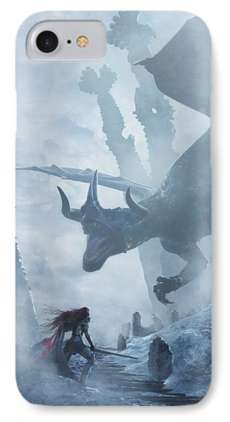 Dragon iPhone 8 Case - Santa Georgina Vs The Dragon by Guillem H Pongiluppi