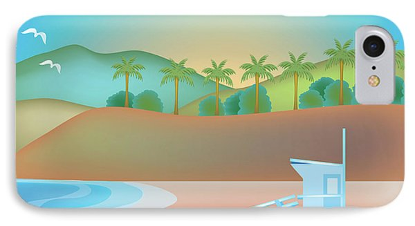 Santa Monica California Horizontal Scene IPhone Case