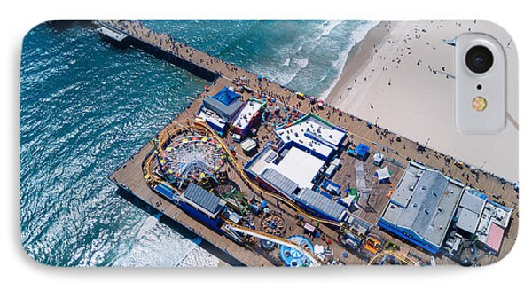 Santa Monica Pier From Above Side IPhone Case