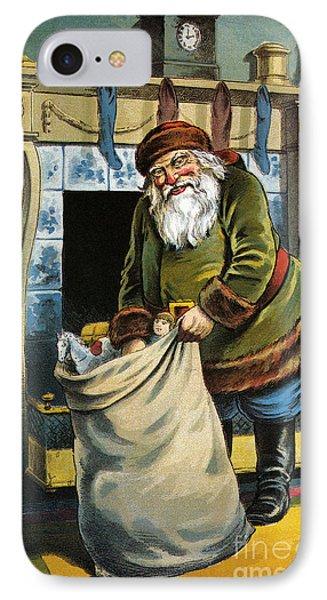 Santa Unpacks His Bag Of Toys On Christmas Eve IPhone Case