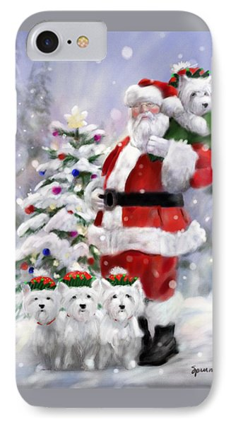Elf iPhone 8 Case - Santa's Helpers by Mary Sparrow