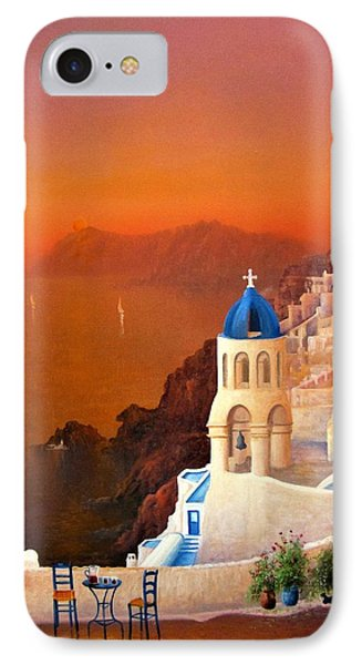 Santorini Sunset IPhone Case