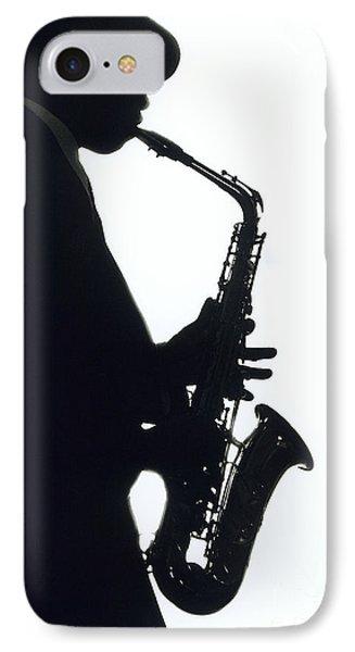 Saxophone iPhone 8 Case - Sax 2 by Tony Cordoza