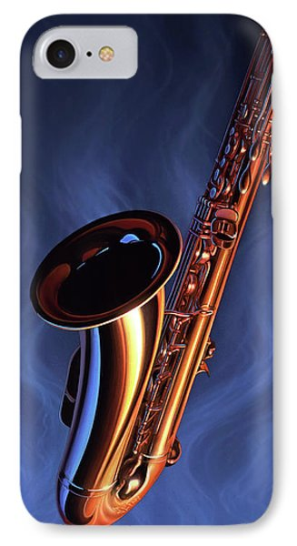 Saxophone iPhone 8 Case - Sax Appeal by Jerry LoFaro