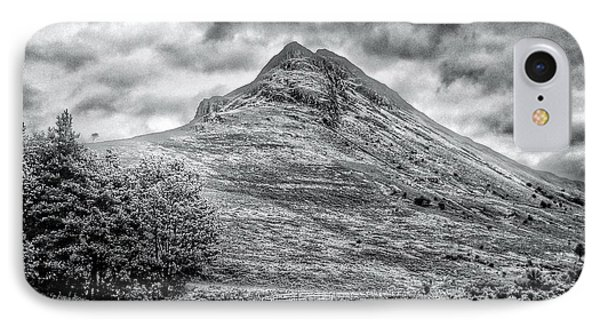 Scafell Pike In Greyscale IPhone Case