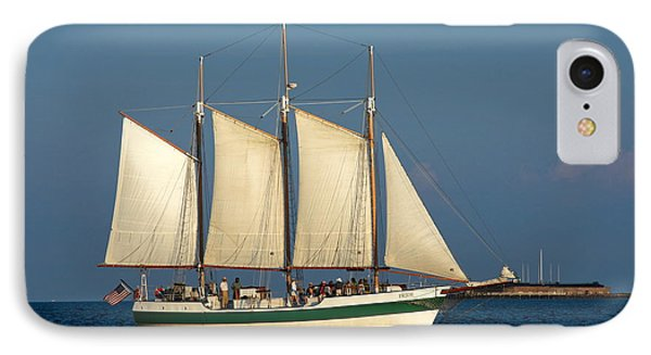 Schooner By Fort Sumter IPhone Case