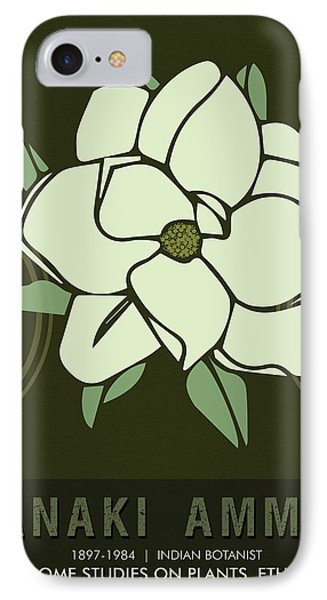 Science Posters - Janaki Ammal - Botanist IPhone Case