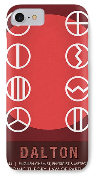 Science Posters - John Dalton - Chemist, Physicist IPhone Case
