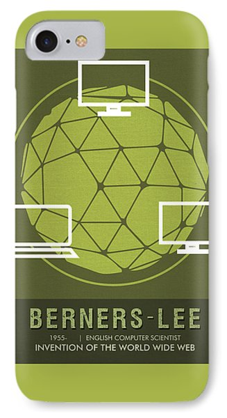 Science Posters - Tim Berners-lee - Computer Scientist IPhone Case