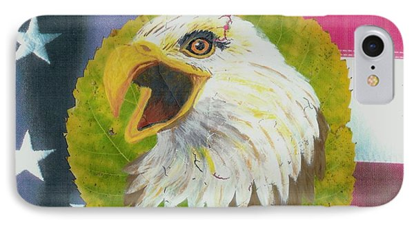 Screaming Eagle With U.s. Flag #2 IPhone Case